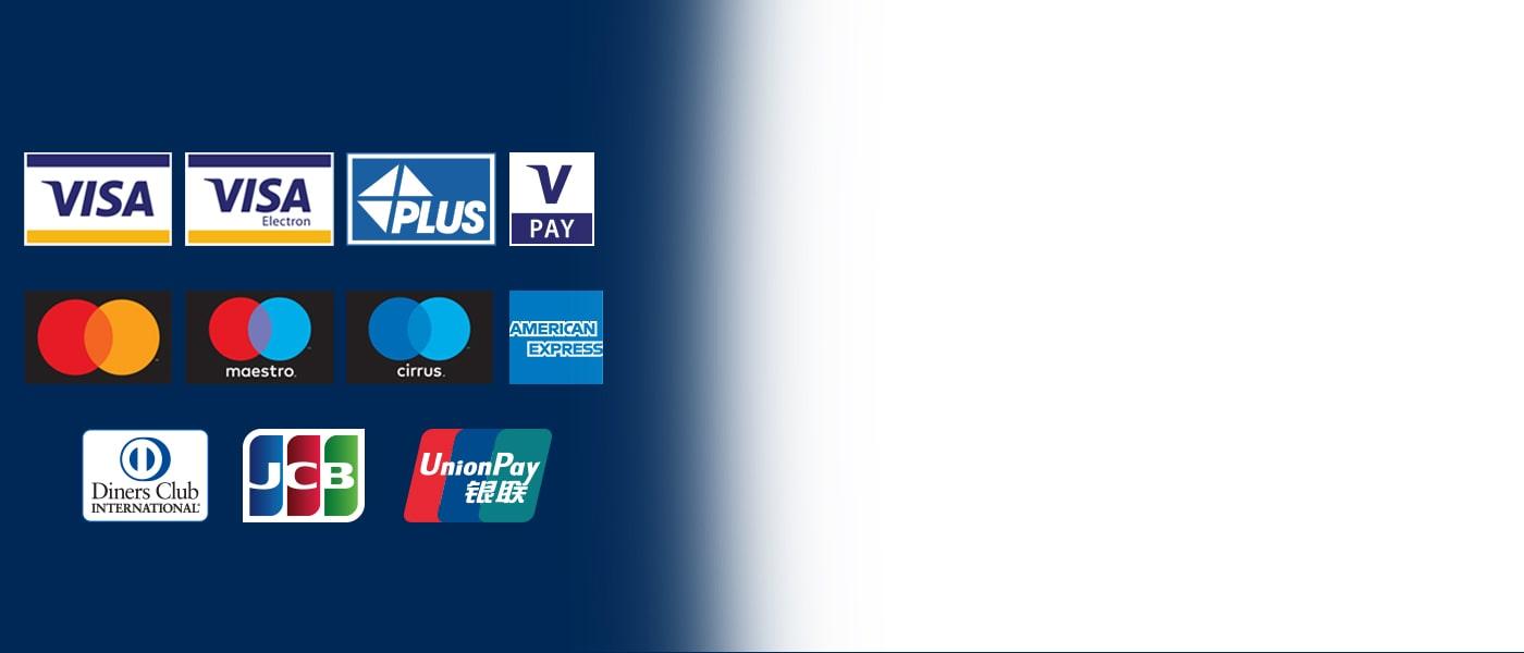 Euronet sine minibanker aksepterer de fleste korttyper